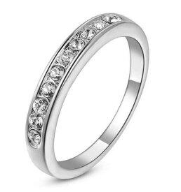 指輪 18K K18 18金 RGP プラチナ CZ ダイヤ シンプル 上質 リング yu766e 誕生日 記念日 ギフト 感謝 誕生日