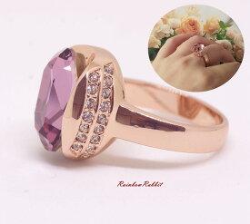 指輪 18K K18 18金 RGP ゴールド 高級 CZ 大粒 ゴージャス リング gu1366e 普通便 送料無料 高級 ダイヤ キュービックジルコニア 誕生日 記念日結婚式 ギフト