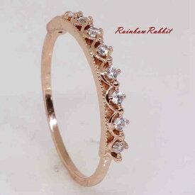 指輪 18K K18 18金 RGP ゴールド ハーフエタニティ リングgu1314e 普通便 送料無料 誕生日 記念日結婚式 ギフト