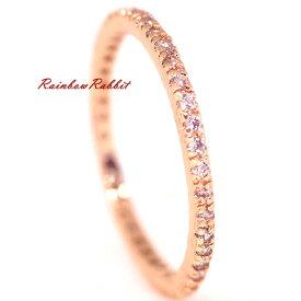 指輪 18K K18 18金 RGP ゴールド CZ ダイヤ キュービックジルコニア フル エタニティ リング gu1343e 誕生日 記念 結婚式 夏