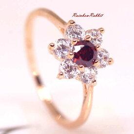 指輪 18K K18 18金 RGP ゴールド CZ ダイヤ キュービックジルコニア フラワー リング gu1326e 誕生日 記念 結婚式 夏