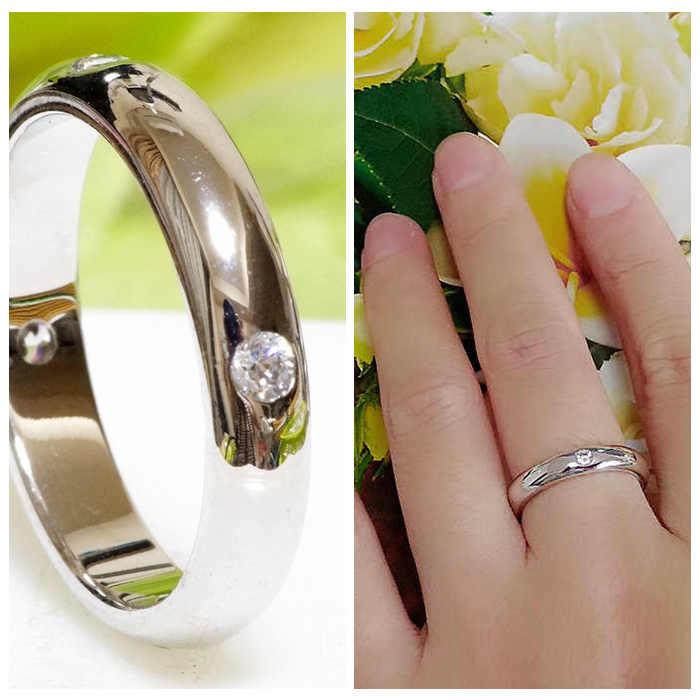 指輪 K18 RGP プラチナ CZ 四粒 上質 リング yu848e K18 18金 18K RGP お祝い 記念日 誕生日 季節 ギフト おすすめ