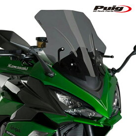 Puig 20471F RACING-SCREEN [DARK SMOKE] Kawasaki Ninja1000SX (20-)Ninja1000 (10-19)Z1000SX (10-19)プーチ スクリーン カウル