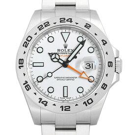 【48回払いまで無金利】ロレックス エクスプローラーII 216570 ホワイト ランダムシリアル メンズ(0ZK2ROAU0001)【中古】【腕時計】【送料無料】
