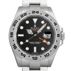 【48回払いまで無金利】ロレックス エクスプローラーII 216570 ブラック ランダムシリアル メンズ(0R78ROAU0001)【中古】【腕時計】【送料無料】