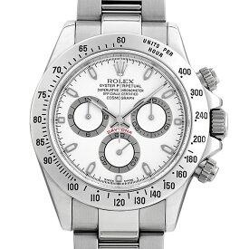 【60回払いまで無金利】ロレックス コスモグラフ デイトナ 116520 ホワイト/アイボリー(クリームダイアル) K番 メンズ(0ZV0ROAU0001)【中古】【腕時計】【送料無料】