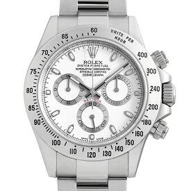 【60回払いまで無金利】ロレックス コスモグラフ デイトナ 116520 新クラスプ/ホワイト ランダムシリアル メンズ(10NZROAU0007)【中古】【腕時計】【送料無料】