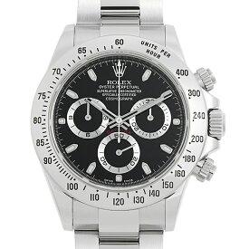 【60回払いまで無金利】ロレックス コスモグラフ デイトナ 116520 ブラック ランダムシリアル メンズ(0B64ROAU0003)【中古】【腕時計】【送料無料】