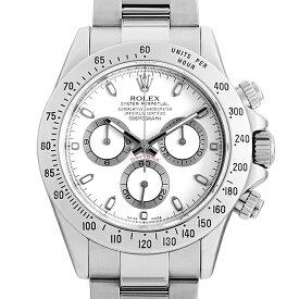 【60回払いまで無金利】ロレックス コスモグラフ デイトナ 116520 ホワイト ランダムシリアル メンズ(0FWNROAU0870)【中古】【腕時計】【送料無料】
