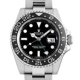 【60回払いまで無金利】ロレックス GMTマスターII 116710LN V番 レクタンギュラーダイアル メンズ(0063ROAU0738)【中古】【腕時計】【送料無料】