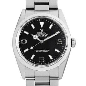 【60回払いまで無金利】ロレックス エクスプローラーI 14270 ブラックアウト/シルバーレター S番 メンズ(0FWNROAU0812)【中古】【腕時計】【送料無料】
