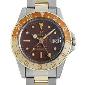 【60回払いまで無金利】ロレックス GMTマスター 1675/3 ブラウン/フジツボ/王冠アップライト/オイスターブレス 34番 メンズ(006XROAA0153)【アンティーク】【腕時計】【送料無料】