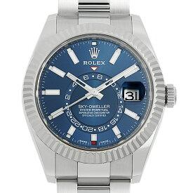 【60回払いまで無金利】ロレックス スカイドゥエラー 326934 ブルー メンズ(0O4SROAU0012)【中古】【腕時計】【送料無料】