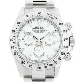 【60回払いまで無金利】ロレックス コスモグラフ デイトナ 116520 ホワイト ランダムシリアル メンズ(0YL4ROAU0003)【中古】【腕時計】【送料無料】