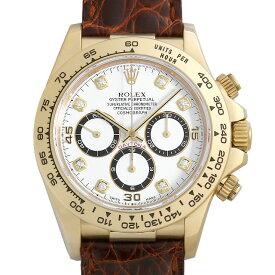 【60回払いまで無金利】ロレックス デイトナ 16518G ホワイト W番 メンズ(0FWNROAU0970)【中古】【腕時計】【送料無料】