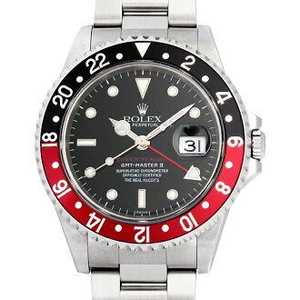 SALE Rolex GMT Master II red black bezel real mccoys Chuck Yeager second model A-16710 men (0014ROAU0022)