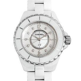 【48回払いまで無金利】シャネル J12 白セラミック 8Pダイヤ H2422 レディース(0064CHAN0128)【新品】【腕時計】【送料無料】