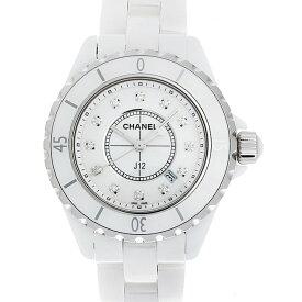 【48回払いまで無金利】シャネル J12 白セラミック 12Pダイヤ H1628 レディース(0H1HCHAN0002)【新品】【腕時計】【送料無料】【キャッシュレス5%還元】