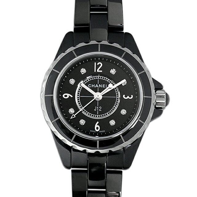 【48回払いまで無金利】シャネル J12 黒セラミック 8Pダイヤ H2569 レディース(006MCHAN0070)【新品】【腕時計】【送料無料】