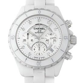 【48回払いまで無金利】シャネル J12 白セラミック クロノグラフ 9Pダイヤ H2009 メンズ(0064CHAN0133)【新品】【腕時計】【送料無料】