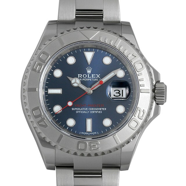 【48回払いまで無金利】ロレックス ヨットマスター ロレジウム 116622 ブルー メンズ(0HO5ROAS0001)【中古】【未使用】【腕時計】【送料無料】