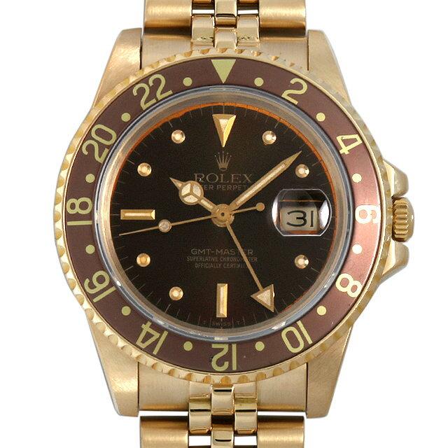 ロレックス GMTマスター 83番 16758 ブラウン フジツボダイアル メンズ(0BCCROAU0001)【中古】【腕時計】【送料無料】