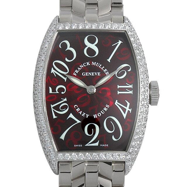 SALE 【48回払いまで無金利】フランクミュラー トノーカーベックス クレイジーアワーズ ダイヤモンド 5850CH D WG メンズ(006XFRAU0087)【中古】【腕時計】【送料無料】
