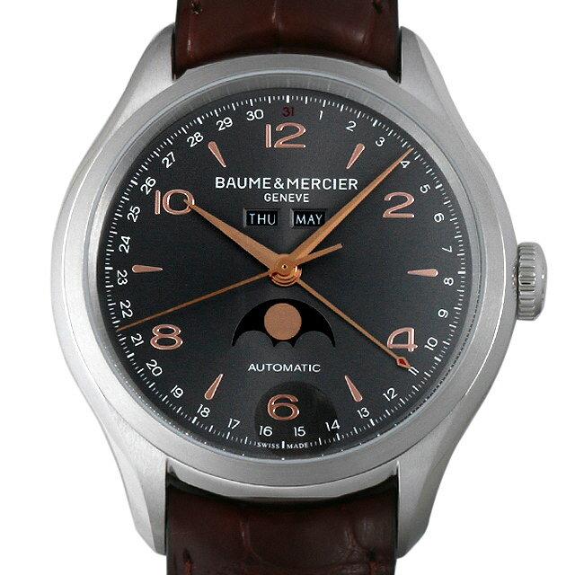 ボーム&メルシエ クリフトン コンプリートカレンダー MOA10213 グレー メンズ(0066BMAN0005)【新品】【腕時計】【送料無料】