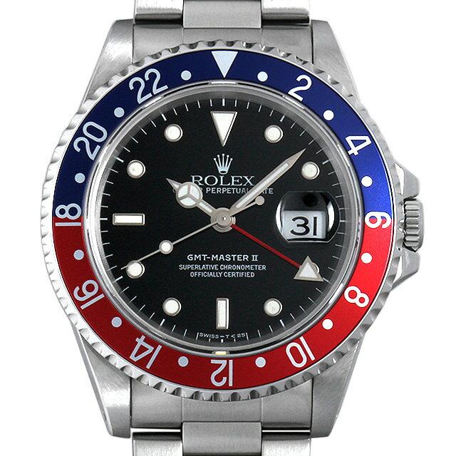 ロレックス GMTマスターII T番 16710 メンズ(006XROAU0582)【中古】【腕時計】【送料無料】