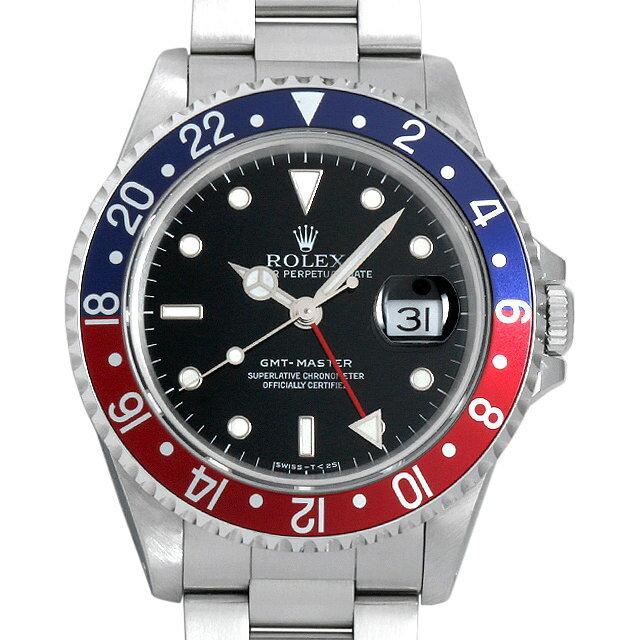 【72時間限定!楽天ポイント10倍!11/24AM10時開始】ロレックス GMTマスター 赤青ベゼル S番 16700 メンズ(006XROAU0655)【中古】【腕時計】【送料無料】