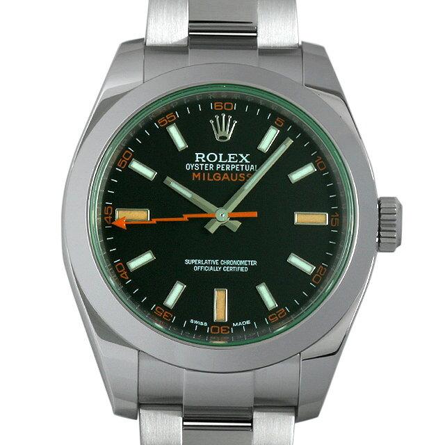 【4/20 0時〜 24時間限定ポイント最大12倍】SALE ロレックス ミルガウス ランダムシリアル 116400GV メンズ(006XROAU0661)【中古】【腕時計】【送料無料】【48回払いまで無金利】
