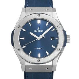 【48回払いまで無金利】ウブロ クラシックフュージョン チタニウム ブルー 542.NX.7170.LR メンズ(0039HBAN0027)【新品】【腕時計】【送料無料】