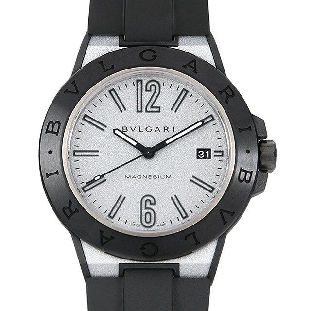 ブルガリ ディアゴノ マグネシウム シルバーラッカー DG41C6SMCVD メンズ(09NTBVAU0001)【中古】【腕時計】【送料無料】