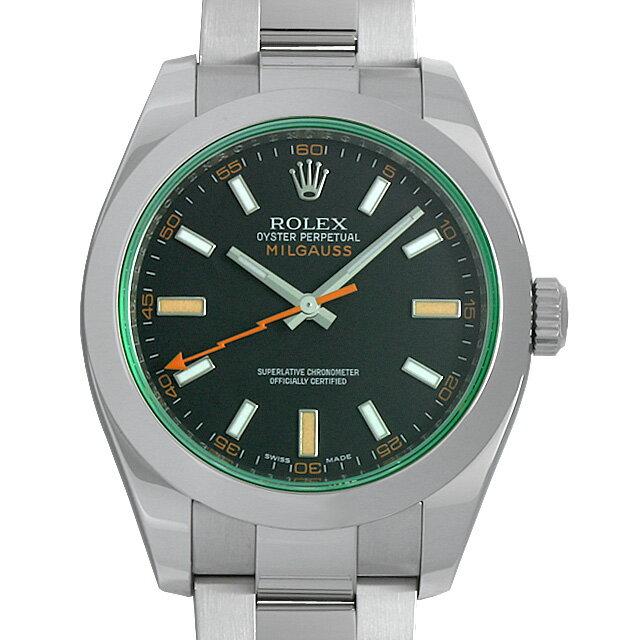 【48回払いまで無金利】ロレックス ミルガウス V番 116400GV ブラック メンズ(0ANUROAU0005)【中古】【腕時計】【送料無料】