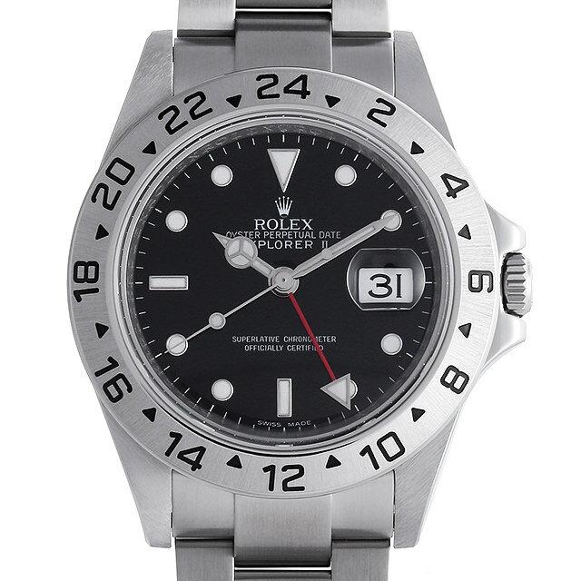 【48回払いまで無金利】ロレックス エクスプローラーII M番 16570 ブラック メンズ(006TROAU0020)【中古】【腕時計】【送料無料】【5000円オフクーポン配布中】