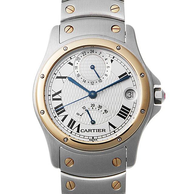 【48回払いまで無金利】カルティエ サントス ロンド GMT パワーリザーブ 150周年記念モデル W20038R3 メンズ(05HVCAAU0002)【中古】【腕時計】【送料無料】