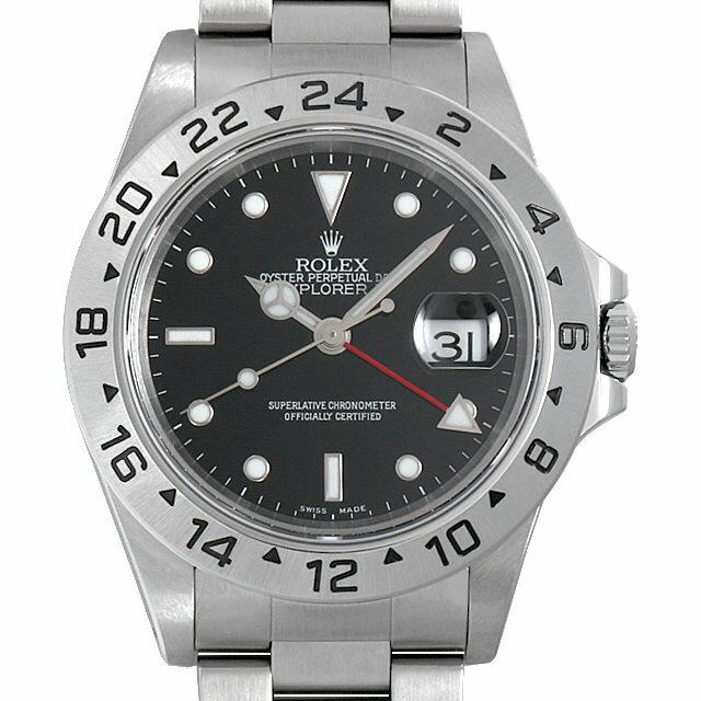 【48回払いまで無金利】ロレックス エクスプローラーII A番 16570 ブラック メンズ(0I3KROAU0001)【中古】【腕時計】【送料無料】【5000円オフクーポン配布中】