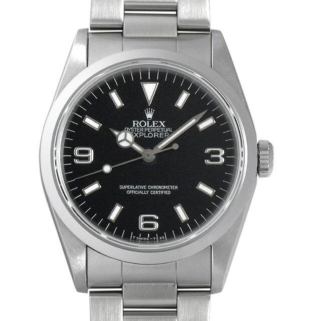 【48回払いまで無金利】ロレックス エクスプローラーI S番 14270 メンズ(0063ROAU0218)【中古】【腕時計】【送料無料】【5000円オフクーポン配布中】