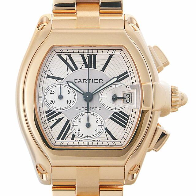 【48回払いまで無金利】カルティエ ロードスタークロノグラフ W62021Y2 メンズ(0ITRCAAU0001)【中古】【腕時計】【送料無料】【5000円オフクーポン配布中】