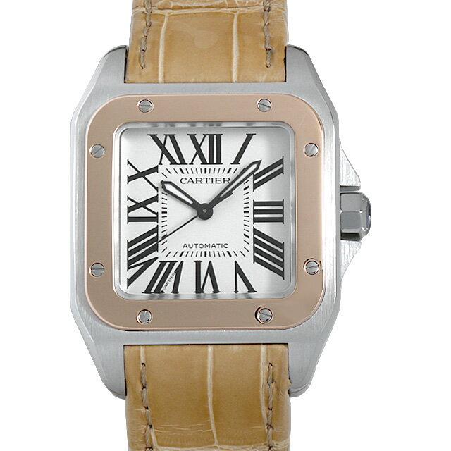 【48回払いまで無金利】カルティエ サントス100 MM W20107X7 ボーイズ(ユニセックス)(002XCAAU0002)【中古】【腕時計】【送料無料】