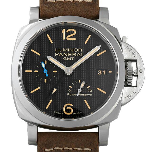 【48回払いまで無金利】パネライ ルミノール1950 3デイズ GMT パワーリザーブ オートマティック アッチャイオ PAM01537 メンズ(0FHMOPAN0017)【新品】【腕時計】【送料無料】