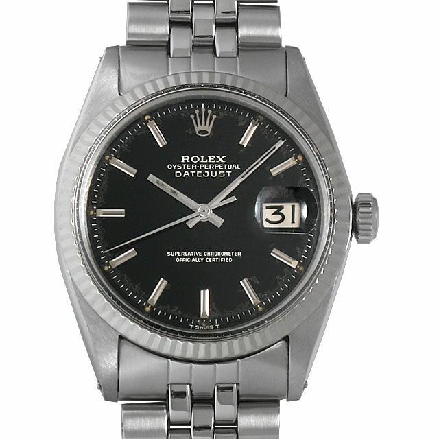 【48回払いまで無金利】ロレックス デイトジャスト 95番 1601 ブラックミラー メンズ(006XROAA0107)【アンティーク】【腕時計】【送料無料】