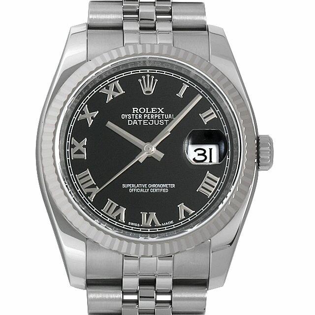 【48回払いまで無金利】ロレックス デイトジャスト ランダムシリアル 116234 ブラック/ローマ メンズ(006XROAU0881)【中古】【腕時計】【送料無料】