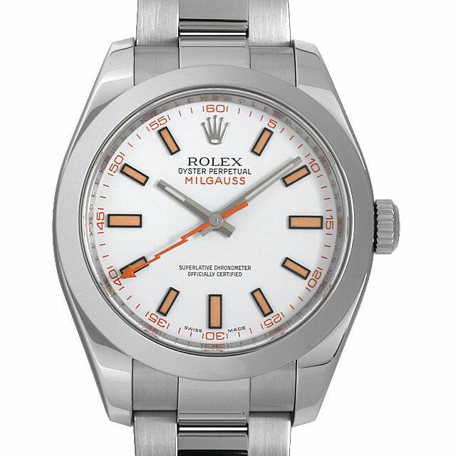 【48回払いまで無金利】ロレックス ミルガウス V番 116400 ホワイト メンズ(006XROAU0900)【中古】【腕時計】【送料無料】