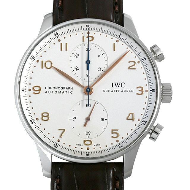 【48回払いまで無金利】IWC ポルトギーゼ クロノグラフ 金針 IW371401 メンズ(001HIWAU0075)【中古】【腕時計】【送料無料】
