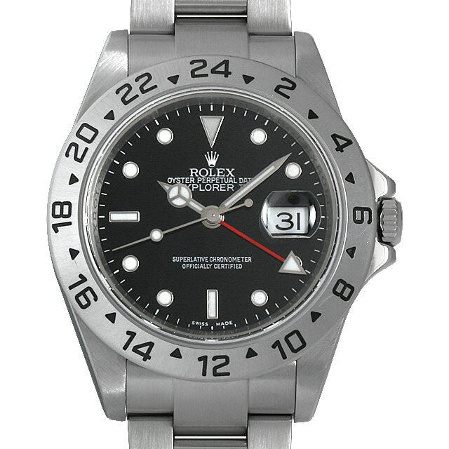 【48回払いまで無金利】ロレックス エクスプローラーII M番 16570 ブラック メンズ(034EROAU0001)【中古】【腕時計】【送料無料】