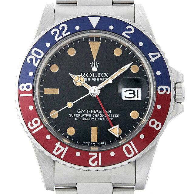 【48回払いまで無金利】ロレックス GMTマスター 赤青ベゼル 72番 16750 フチなし メンズ(007UROAU0458)【中古】【腕時計】【送料無料】