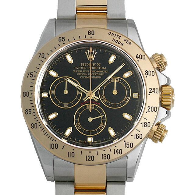 【48回払いまで無金利】ロレックス コスモグラフ デイトナ 116523 ブラック Y番 メンズ(006XROAU0968)【中古】【腕時計】【送料無料】