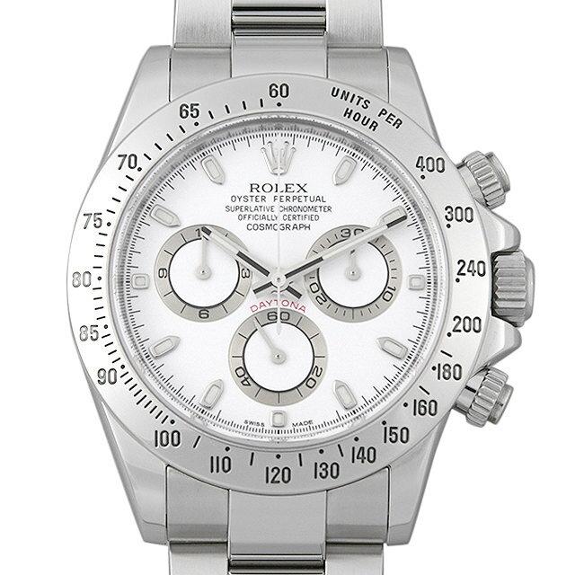 【48回払いまで無金利】ロレックス コスモグラフ デイトナ 116520 ホワイト ランダムシリアル メンズ(006XROAU0975)【中古】【腕時計】【送料無料】