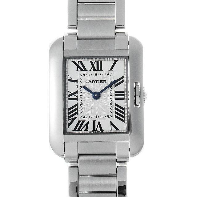 【48回払いまで無金利】カルティエ タンクアングレーズ SM W5310022 レディース(008WCAAU0150)【中古】【腕時計】【送料無料】